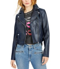 guess norra faux-leather moto jacket