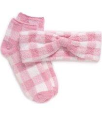 women's aloe infused socks and headband set, 2 piece