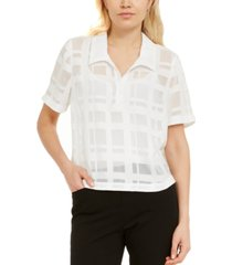 alfani grid-print shirt, created for macy's