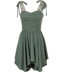 amen chain strap mini dress
