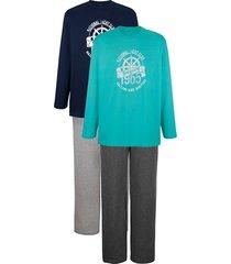 pyjama's g gregory turquoise::marine::grijs