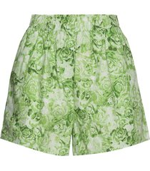printed cotton poplin shorts flowy shorts/casual shorts grön ganni