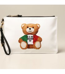 moschino couture clutch moschino couture nylon clutch with teddy