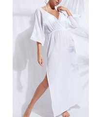calzedonia interlaced neckline dress woman white size s/m