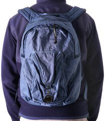 c.p. company lens pocket backpack - denim - 197a-5269g 879