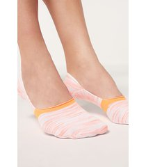 calzedonia invisible socks in faded pattern woman orange size 34-36