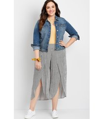 maurices plus size womens stripe flyaway pants