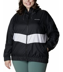 columbia plus size sandy sail windbreaker jacket