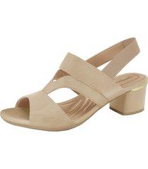 sandalia amarante beige comfortflex