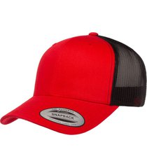 gorra flexfit retro trucker rojo/negro 6606t