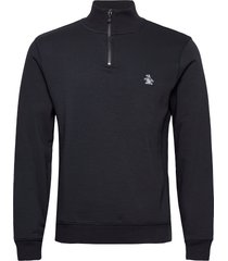 1/4 zip sweatshirt sweat-shirt tröja blå original penguin
