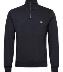 1/4 zip sweatshirt sweat-shirt tröja blå original penguin