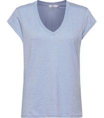 basic tee w. v-neck t-shirts & tops short-sleeved blå coster copenhagen