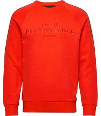 m orig c sweat-shirt trui rood peak performance