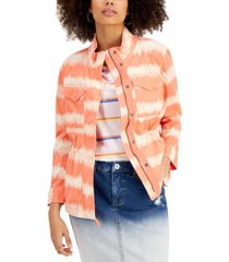 style & co tie-dyed twill jacket, created for macy's