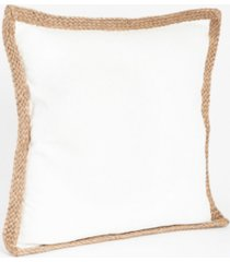 "saro lifestyle jute braided throw pillow, 20"" x 20"""