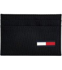 tommy hilfiger men's recycled card case black -