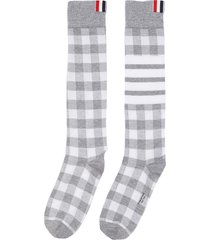 gingham check socks