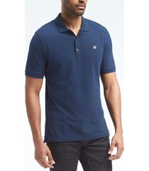 polera pique polo solid azul banana republic