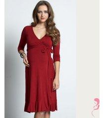 zwangerschapsjurk flamenco wrap dress rood