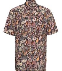 thor paisley shirt ss overhemd casual multi/patroon wood wood