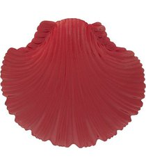 atu body couture oversized shell earrings - red