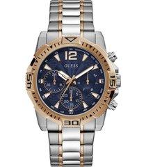 reloj guess hombre commander/gw0056g5 - plateado