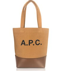 a.p.c. designer handbags, camel small axelle tote bag