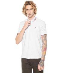 camisa polo ellus reta logo branca/vermelha