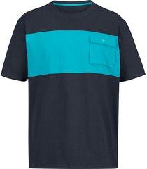 t-shirt men plus marinblå::turkos