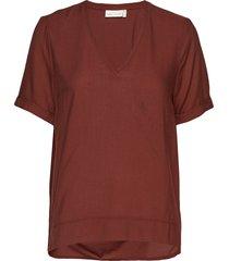 blakeiw v top t-shirts & tops short-sleeved röd inwear