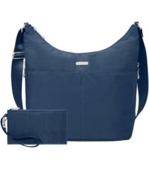 baggallini hobo crossbody with rfid wristlet