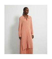saída de praia camisa alongada texturizada comfy | bossa nossa | laranja | p