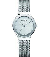 reloj classic mesh plateado bering