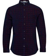 check slim fit corduroy shirt skjorta casual blå original penguin