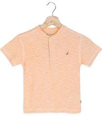 camiseta naranja-blanco nautica 833