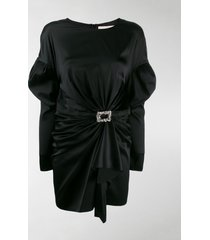 alexandre vauthier long-sleeve ruched mini dress