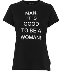 md good to be a woman t-shirt t-shirts & tops short-sleeved svart marlies dekkers