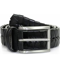 anderson stitched leather belt | black | pi175 c