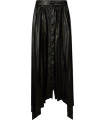 isabel marant button detail pleated long skirt