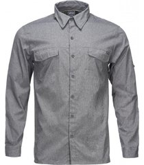 camisa rosselot q-dry shirt l/s melange gris oscuro lippi