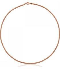 cadena icon mesh de acero y plata vermeil rosa
