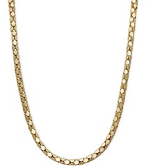 "14k gold necklace, 20"" diamond cut popcorn chain (1-5/8mm)"