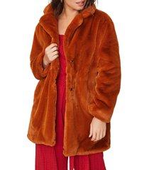 women's lost + wander frontier faux fur jacket