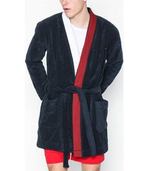 tommy hilfiger bathrobe morgonrockar navy blazer