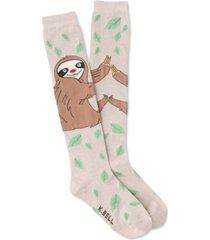k. bell socks women's silly sloth knee-high socks