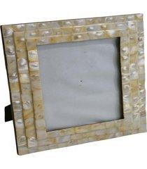 porta retrato- pashmina- porta retrato mop 3 camada- amarelo - amarelo - dafiti