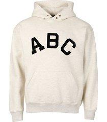 classic abc hoodie cream