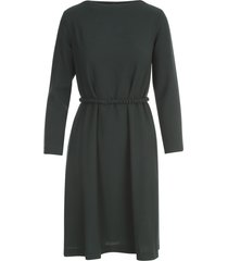 antonelli crepe l/s dress w/a line belted skirt