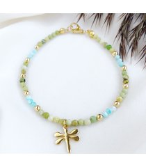 bransoletka little luck dragonfly amazonit